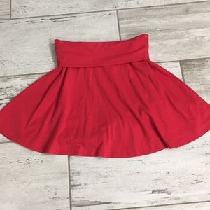Red skater skirt size xs worn once
